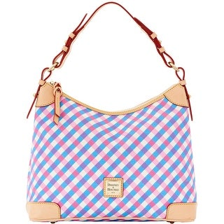 Dooney & Bourke Elsie Collection Hobo (Introduced by Dooney & Bourke at $228 in Apr 2016) - pink sky blue