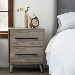 Link to Brookside Emery Mid-Century Modern Two Drawer Nightstand Similar Items in Bedroom Furniture