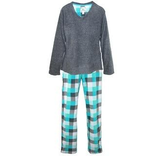 PJ Couture Women's Polar Fleece Pajamas and Blanket Gift Set
