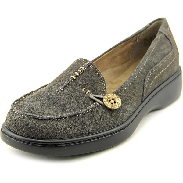 Array Superior Women Moc Toe Suede Gray Loafer