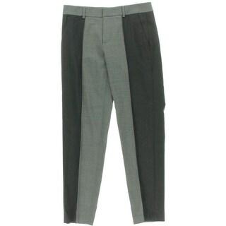 Vince Womens Dress Pants Stretch Wool Colorblock