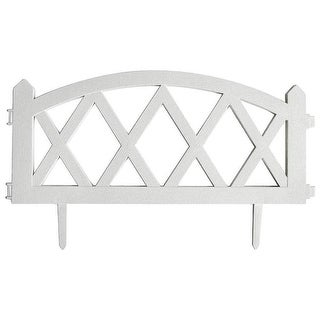 "MIntcraft GF-3118 White Garden Fence, 23-5/8"" x 13-3/4"""