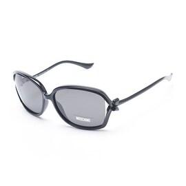 Moschino Women's Bow Detailed Oversized Sunglasses Black - Small