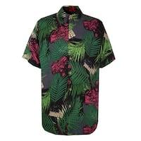 Deadpool Tropical Men's Button Up Shirt - Black