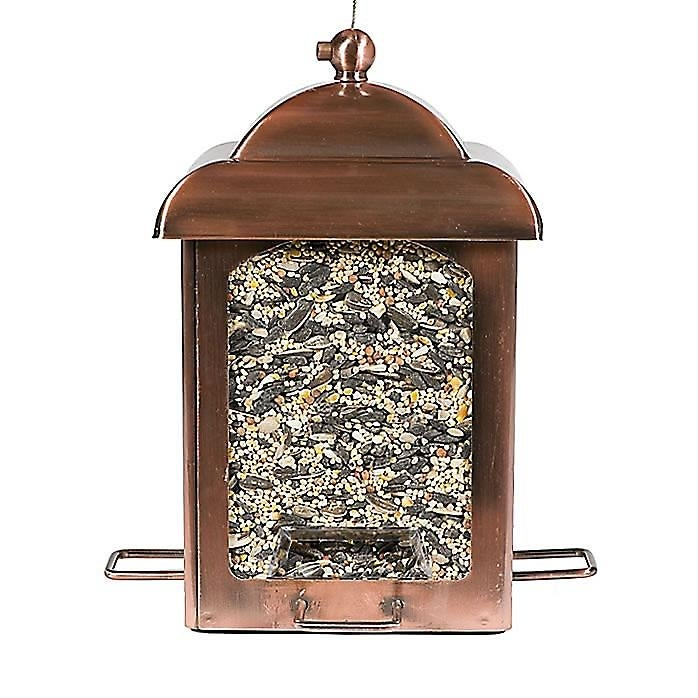 Perky Pet 305 Holly Berry Gilded Chalet Bird Feeder 2 Lbs Rustic Antique Gold