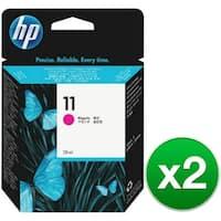 HP 11 Magenta Original Ink Cartridge (C4837A) (2-Pack)
