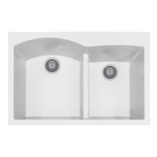 "Houzer P-175  Quartztone 33"" Drop In Double Basin Granite Composite Kitchen Sink"
