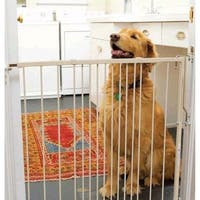 """Cardinal Gates Duragate Hardware Mounted Dog Gate White 26.5"""" - 41.5"""" x 1.5"""" x 29.5"""""""