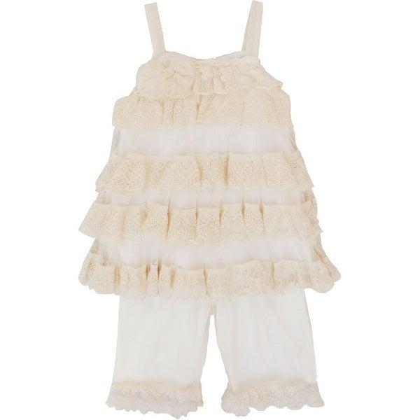 Isobella & Chloe Baby Girls Ivory Secret Garden 2 Pcs Pant Outfit Set 3-24M