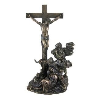CRUCIFIXION Bronzed Finish Statue Jesus Christian
