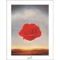 ''Meditative Rose'' by Salvador Dali Museum Art Print (14 x 11 in.)