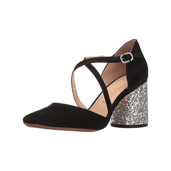 Marc Jacobs Womens Haven Dress Pumps Suede Glitter