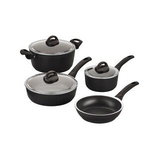 Ballarini Como Forged Aluminum 7-pc Nonstick Cookware Set - Black