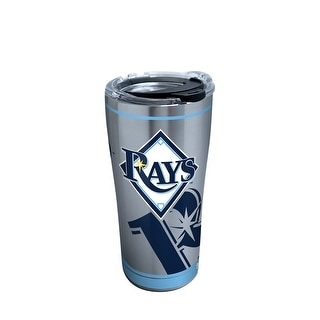 MLB Tampa Bay Rays Genuine 20 oz Stainless Steel Tumbler with lid