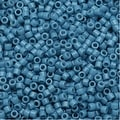Miyuki Duracoat Delica, Japanese 11/0 Seed Beads, 7.2g Tube, Opaque Bayberry Blue DB2132 - Thumbnail 0