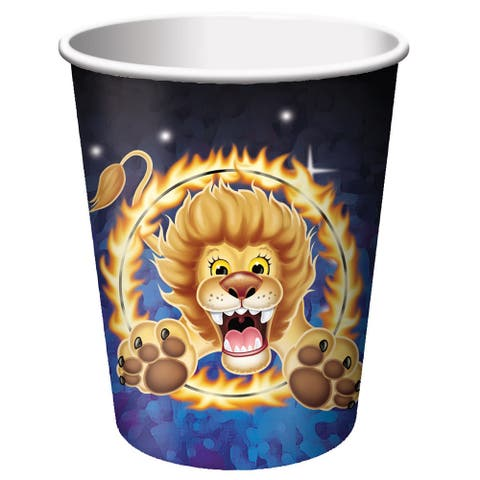 8 Pack 9Oz Cups Big Top Birthday - Multi