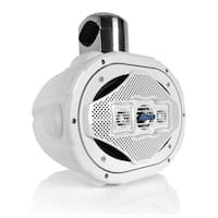 6'' x 9'' Bluetooth Marine Wakeboard Speaker, Water Resistant 4-Way Tower Speaker, 1200 Watt (White)
