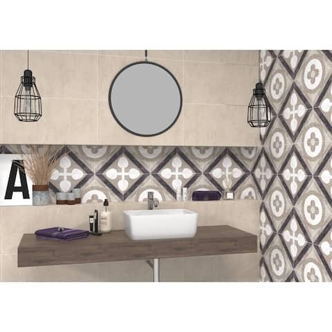 9x9 Joya Beige Porcelain Floor /Wall Tile (12.38 Sq. Ft./ 23 pcs box)