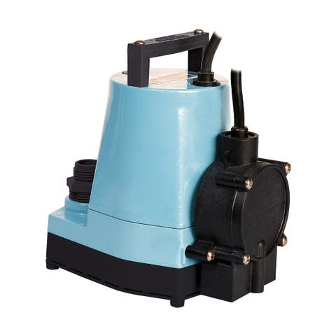 Little Giant 505350 1/6 HP 115V 1200 GPH Submersible Utility Pump with Piggyback Diaphragm Switch and 18ft. Cord