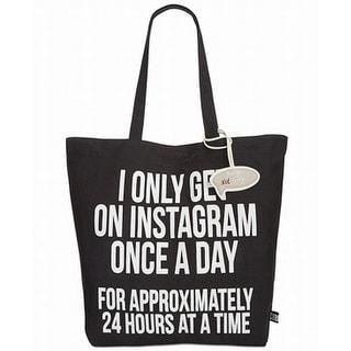 Circus by Sam Edelman NEW Black Canvas Graphic Instagram Shopper Bag