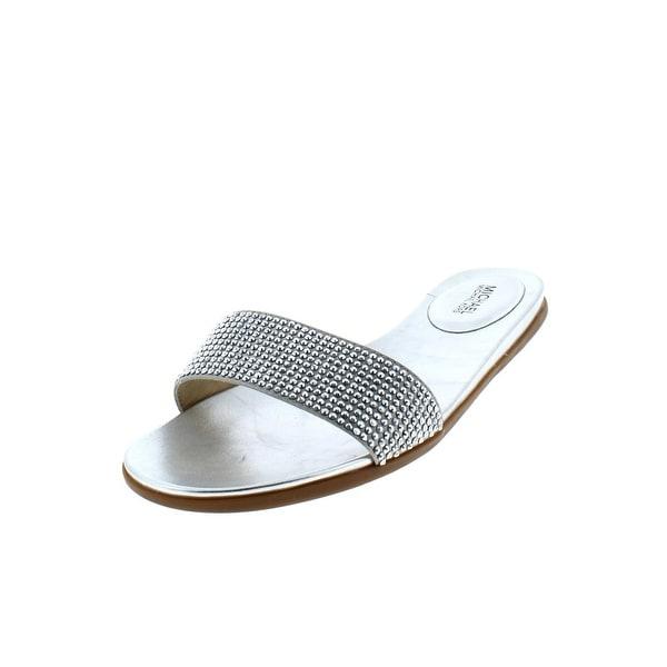ebb6ba9f2018 MICHAEL Michael Kors Womens Eleanor Slide Sandals Faux Leather Embellished
