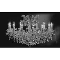 Chandelier Crystal Lighting Pendant 14 Lights Silver