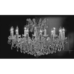 Chandelier Crystal Lighting Pendant 14 Lights Silver