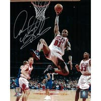 Dennis Rodman Autographed Chicago Bulls 8x10 Photo in Silver JSA