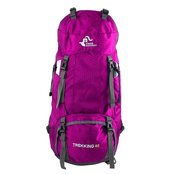 FreeKnight Authorized Outdoor Camping Bag Trekking Hiking Backpack Magenta 60L