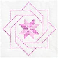"Woven Star - Stamped White Quilt Blocks 18""X18"" 6/Pkg"