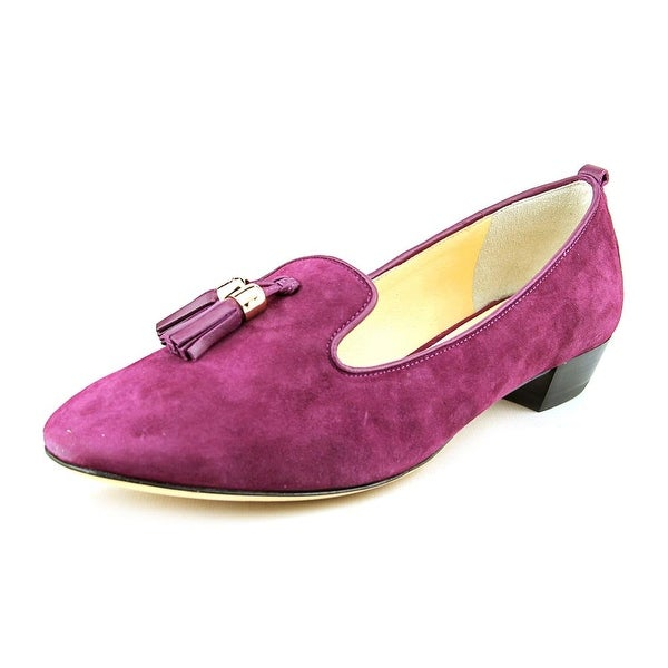 Vince Camuto Nancy Women Round Toe Suede Purple Loafer