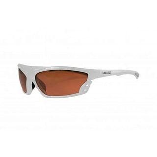 Maxx Sunglasses Cobra White Frame HD Amber Lenses