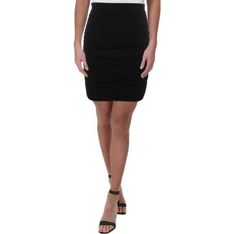Guess Womens Tamie Pencil Skirt Ruched Pull On