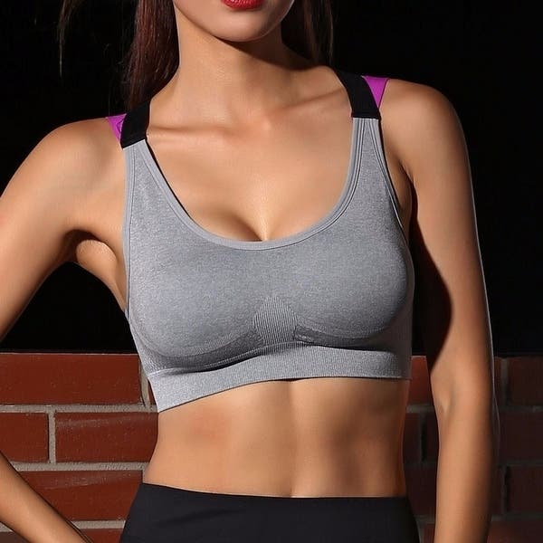 onlypuff Womens Sports Bra Fitness Workout Running Shirts Yoga Tank Top Comfort Bralette Light Support