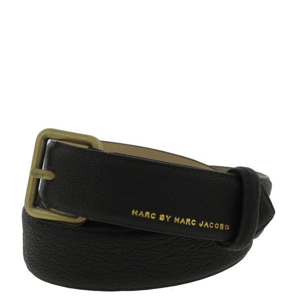 Marc by Marc Jacobs Mens Casual Belt Pebbled Leather - XS/S