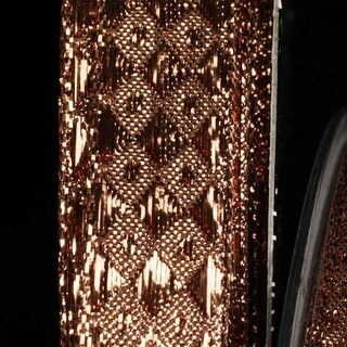 Woven Diamond Copper Lame Wired Craft Ribbon 16mm x 108 Yards