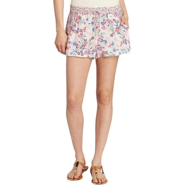 French Connection Womens Casual Shorts Floral Print Panel