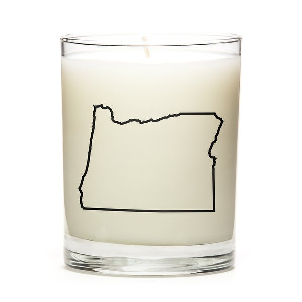 Custom Candles with the Map Outline Oregon, Lemon