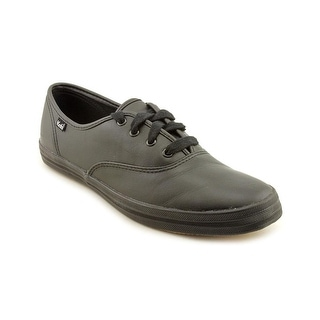 Keds Champion Oxford CVO Women W Round Toe Leather Black Sneakers