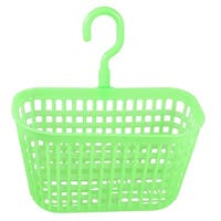 Unique Bargains Perforating Plastic Home Kitchen Bathroom Hook Basket Holder Light Green