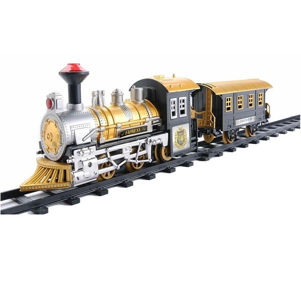 8-Piece Fast Forward B/O Animated Classic Train Set with Sound - Black