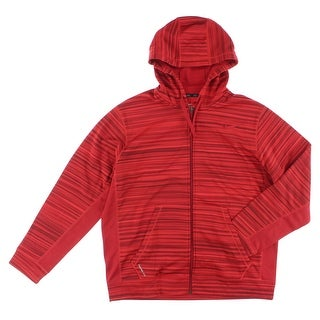 Nike Mens Knock Out Blur Full Zip Training Hoodie Red