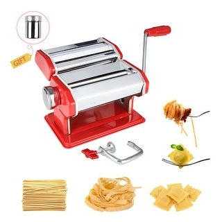 Link to Pasta Maker Machine With Adjustable Thickness Settings Perfect for Homemade Spaghetti Fettuccini - 2 WIDTHS Similar Items in Specialty Appliances