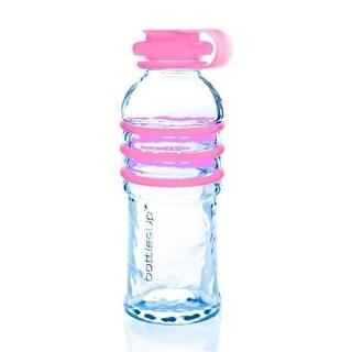 Bottlesup Glass B-BU-PNK 16 oz Glass Water Bottle - Pink