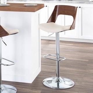 Carson Carrington Visby Mid-century Modern Swivel Adjustable Bar Stool