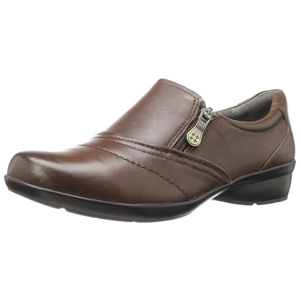 Naturalizer Womens Clarissa Leather Low Top Zipper Coffee Bean Size 8.0