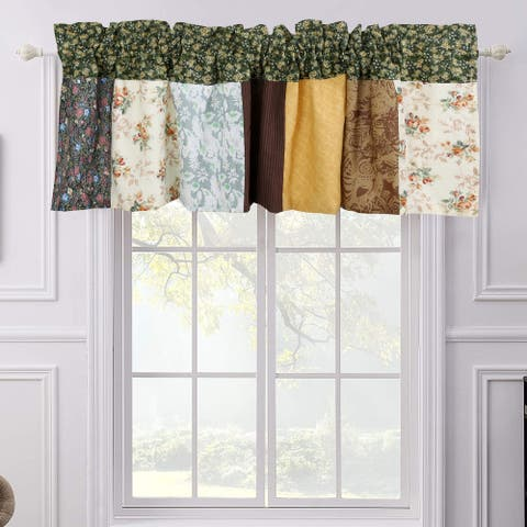 Farmhouse Country Vintage Floral Patchwork Window Valance