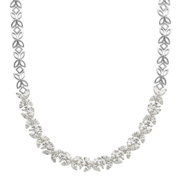 3c727b605e Shop Starburst Garland Necklace with Swarovski Zirconia in Sterling Silver  - Free Shipping Today - Overstock - 13885769