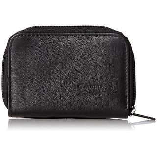 Roma Leathers Genuine Leather Mini ID & Credit Card Holder (Black) - Black