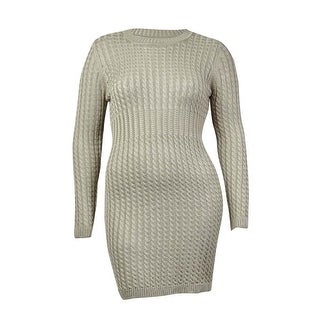Calvin Klein Women's Crew Neck Cable Knit Sweater Dress